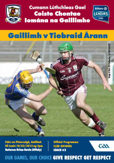 2013 Allianz Hurling League Galway v Tipperary